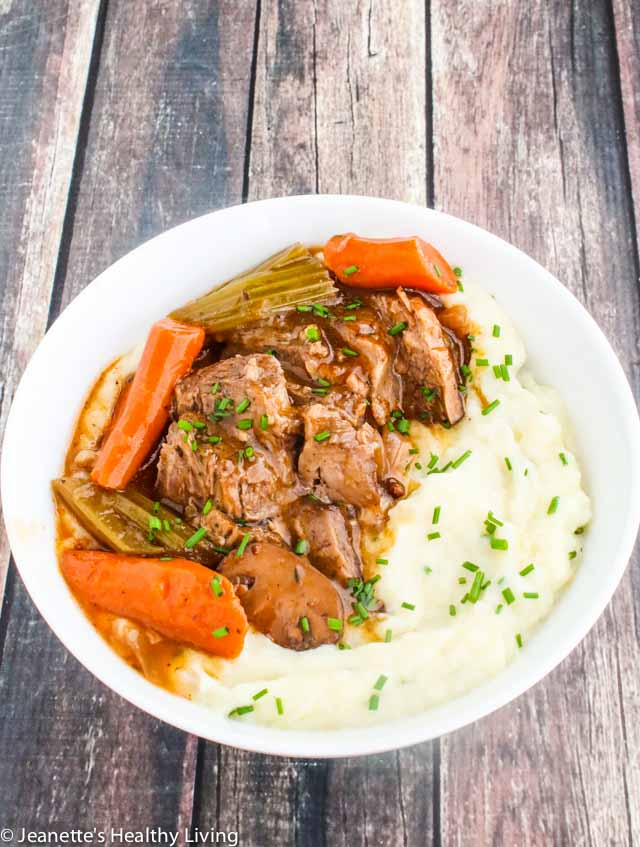 Instant Pot Red Wine Pot Roast - Paleo, Whole 30 - tender, moist pot roast cooks in a fraction of the time it takes on the stove