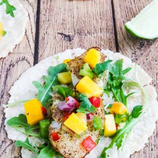 Pan Roasted Cod Fish Tacos