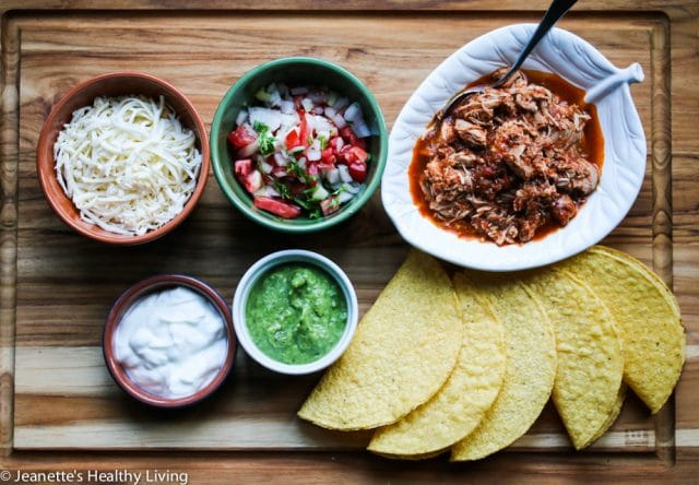 Slow Cooker Chicken Tinga Tacos - this chicken is so flavorful, juicy, tender and moist