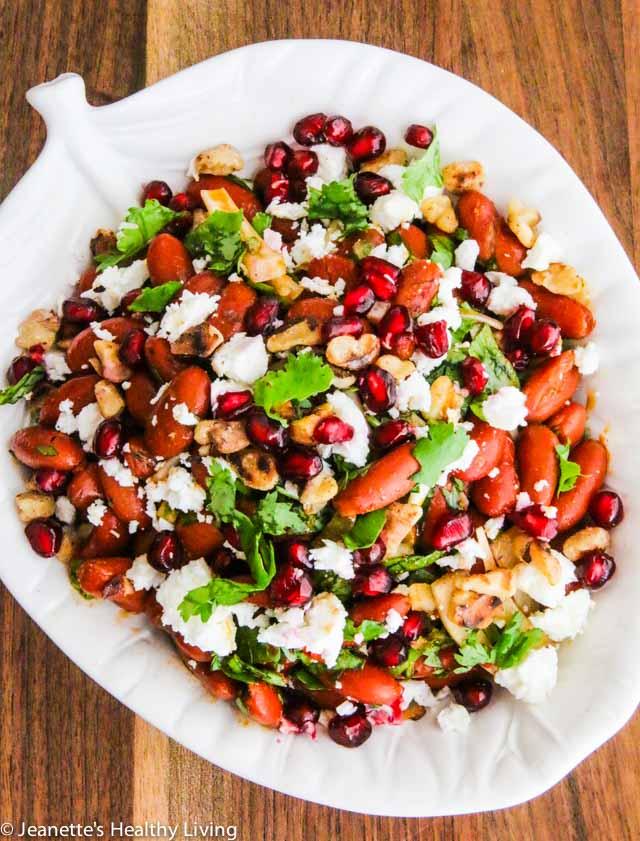 Georgian Lobio Kidney Bean Salad - great as a side dish for Georgian feast or for picnics