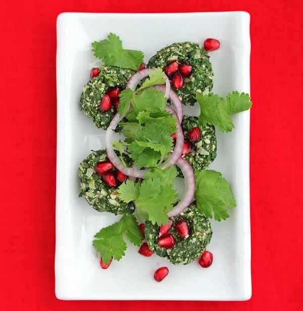 Georgian Spinach Walnut Dip - pretty presentation when rolled into balls