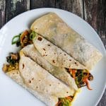 Moo Shu Shrimp Pancakes - healthy and delicious meal in a wrap