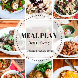 Healthy Meal Plan (October 1 – October 7)