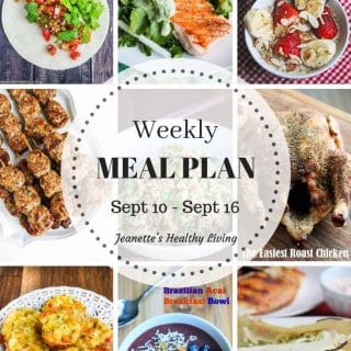 Healthy Meal Plan (September 10 – September 16)