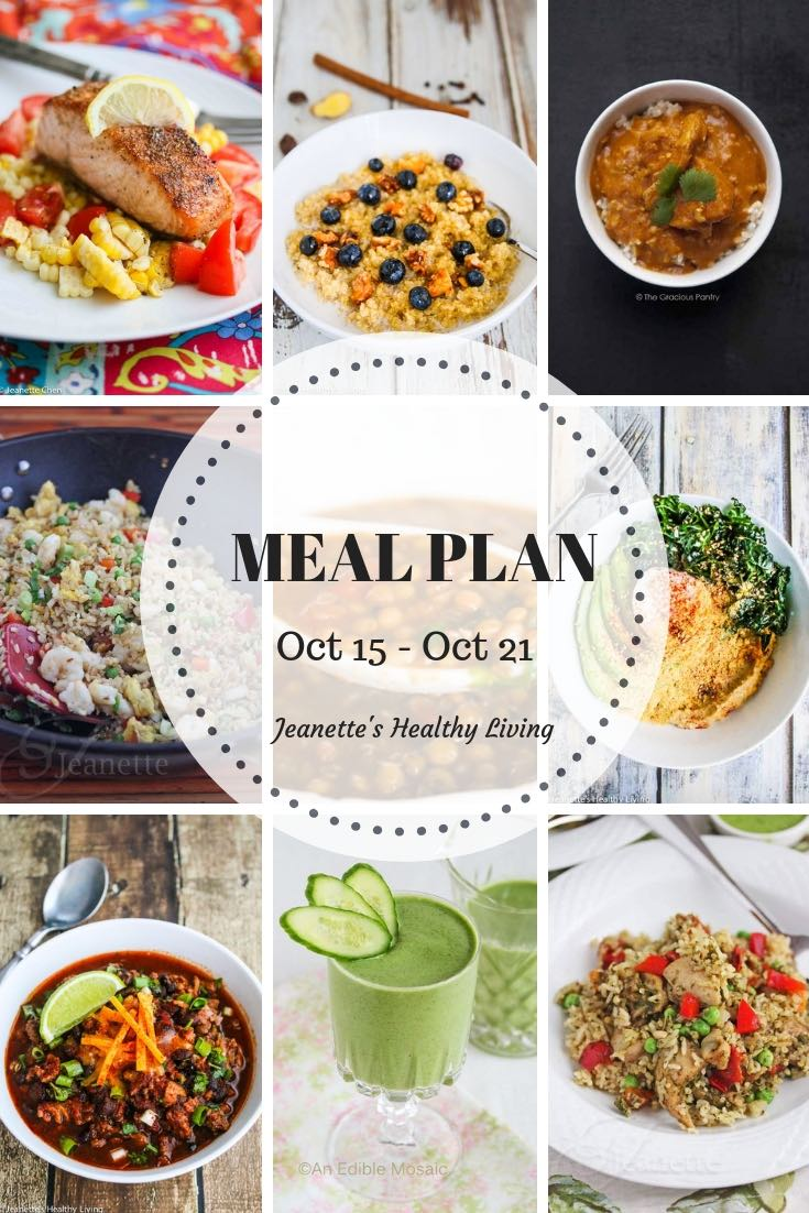 Healthy Meal Plan (October 15 - October 21) - Jeanette\'s Healthy Living