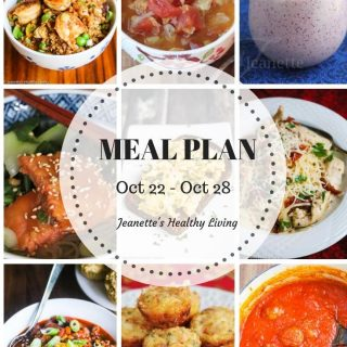 Weekly Healthy Meal Plan Sept 24 - Sept 30 - Weekly Healthy Meal Plan Oct 22 - Oct 28 - breakfast, lunch and dinner recipes and ideas to help get healthy meals on your family's table