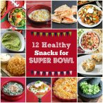 12 Healthy Snacks for Super Bowl - these are all Game Day favorites, lightened up so you can enjoy yourself at the party!