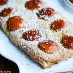 Gluten-Free Apricot Almond Frangipane Tart - this elegant dessert is easy to make and delicious. Frangipane is an almond filling. Peach jam is used to glaze the apricots on top for a special touch