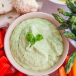 Avocado Green Goddess Dip - this light dip is creamy and delicious - serve with an assortment of veggies for your next party