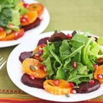Roasted Beet Orange Pumpkin Seed Green Salad © Jeanette
