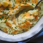 Cheddar Mashed Cauliflower Potatoes