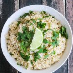 Cilantro Lime Rice - copycat Chipotle rice; serve with beans, carnitas