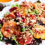 Orange Pomegranate Salad with Toasted Quinoa and Fennel Pollen - this salad is bright, refreshing, healthy and stunning. Toasted quinoa and fennel pollen make this a standout!