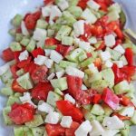 Cucumber Tomato Aged Goat Cheese Salad © Jeanette