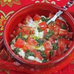 Easy Fresh Tomato Burrata Cheese Pesto Dip © Jeanette