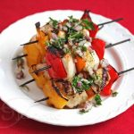 Grilled Chicken Vegetable Kebabs with Chimichurri Sauce