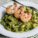 Easy Grilled Garlic Chili Shrimp with Pasta and Pesto © Jeanette