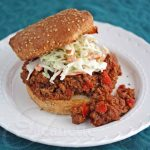 Healthier Sloppy Joes with Coleslaw © Jeanette