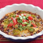 Hot Chicken Chili Cheese Dip with the Fixin