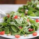 Arugula Tomato Parmesan Salad with Lemon Olive Oil Dressing