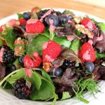 Fresh Berry Salad with Creamy Raspberry Dressing