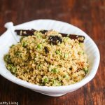 Indian Spiced Quinoa Pilaf with Peas - this is an easy, healthy side dish that takes less than 30 minutes