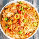 Instant Pot Nicaraguan Arroz Con Pollo - pressure cooking reduces cooking time for this one pot chicken and rice meal to 10 minutes