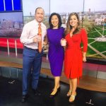 Jeanette Chen with Stephanie Simoni and Gil Simmons at WTNH TV station