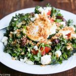 Kale Salad with Feta and Garlic Panko Crumbs and Poached Egg © Jeanette