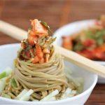 Kimchi Cucumber Soba Noodle Salad