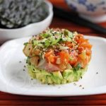 Mixed Fish and Avocado Poke Tower © Jeanette