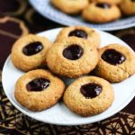 Peanut Butter and Jelly Thumbprint Quinoa Oat Cookies
