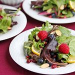 Fresh Berry Green Salad with Pomegranate Meyer Lemon Salad Dressing