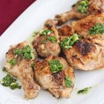 Roasted Cumin Chicken with Cilantro Scallion Salsa © Jeanette