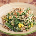 Chopped Salmon Arugula Walnut Salad with Wasabi Honey Vinaigrette