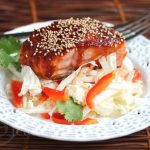 Spicy Korean Salmon with Napa Cabbage Salad