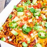 Turkey Taco Bean Enchiladas - freeze ahead of time and bake when ready to eat
