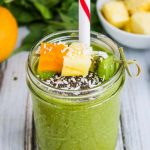Vitamin C Boosting Green Smoothie - this nutritious, easy green smoothie is low in calories and a healthy way to start the day