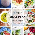 Healthy Meal Plan Sept 3 - Sept 9