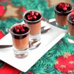 Chocolate Mousse with Pomegranate Gelatin and Pomegranate Seeds
