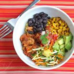 """Cha Cha Bowl"" (Mexican Chicken Black Bean Rice Bowl)"