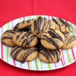 Gluten-Free Peanut Butter Cookies with Dark Chocolate Drizzle