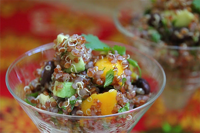 Mango Avocado Black Bean Quinoa Salad is a light and refreshing salad, perfect for lunch or as a side dish.