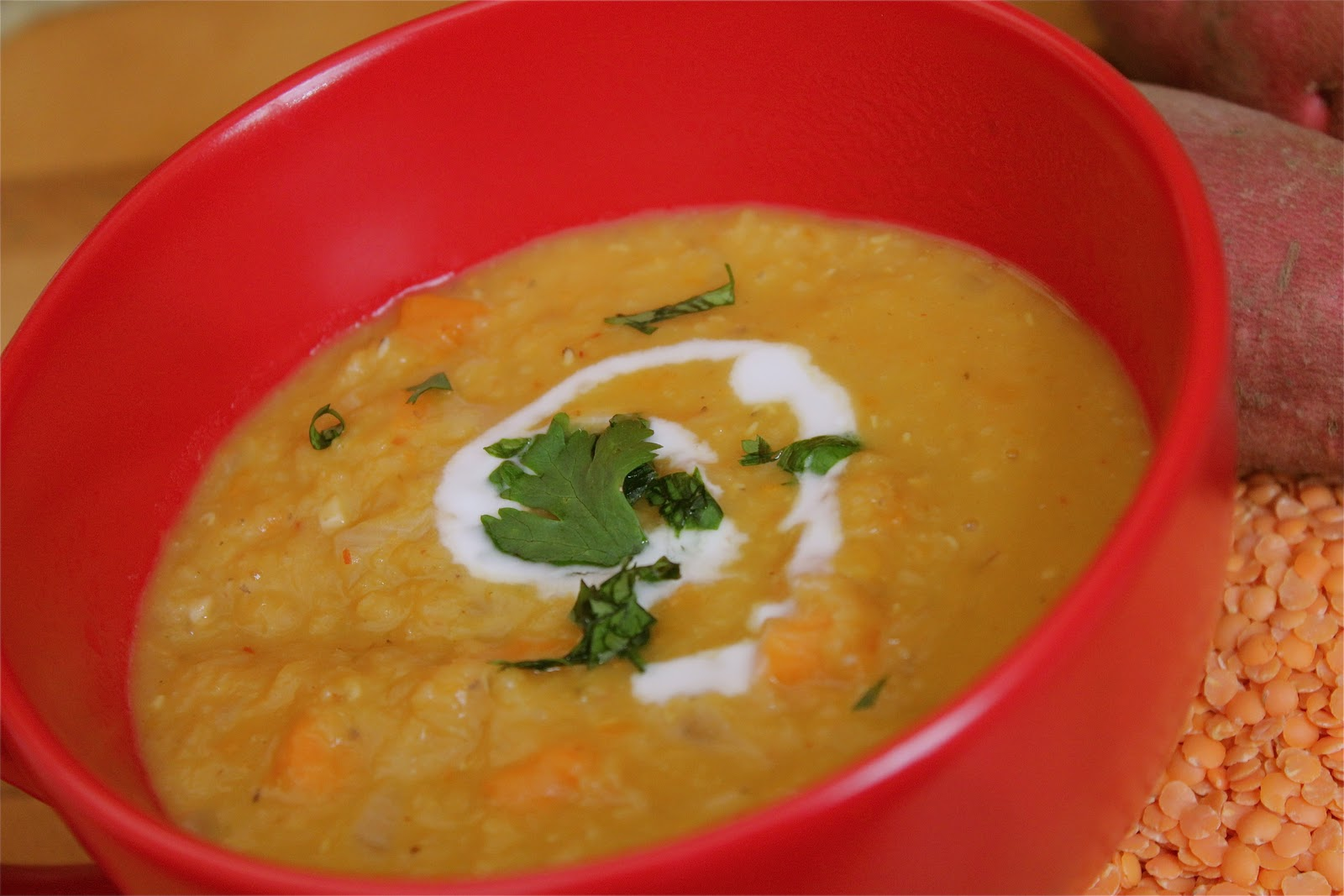 This Thai Coconut Curry Lentil Soup recipe has sweet and spicy notes ...