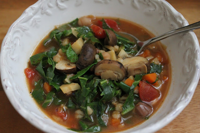 Vegetarian Mushroom Barley Soup Recipe - Jeanette's Healthy Living