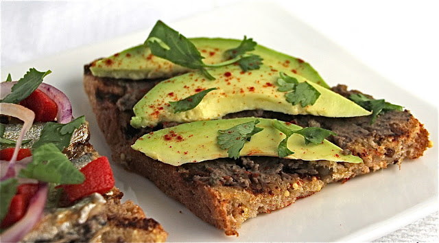 Black Bean Tartine with Avocado