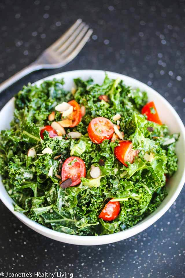 Kale Avocado Tomato Salad ~ https://jeanetteshealthyliving.com