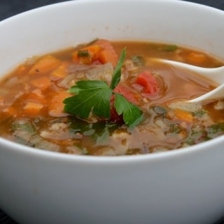 French Lentil Soup with Barley and Rainbow Chard Recipe