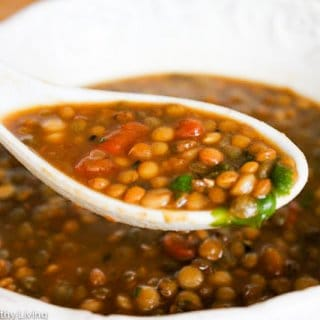 French Lentil Soup with Cilantro