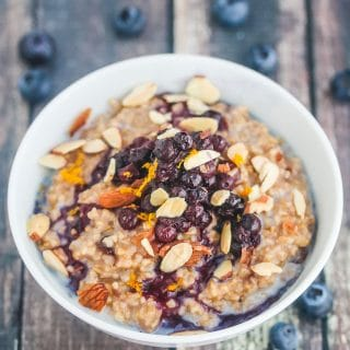 Steel Cut Oatmeal with Blueberry Compote Recipe